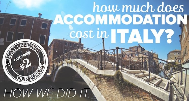 how much does accommodation cost in Italy