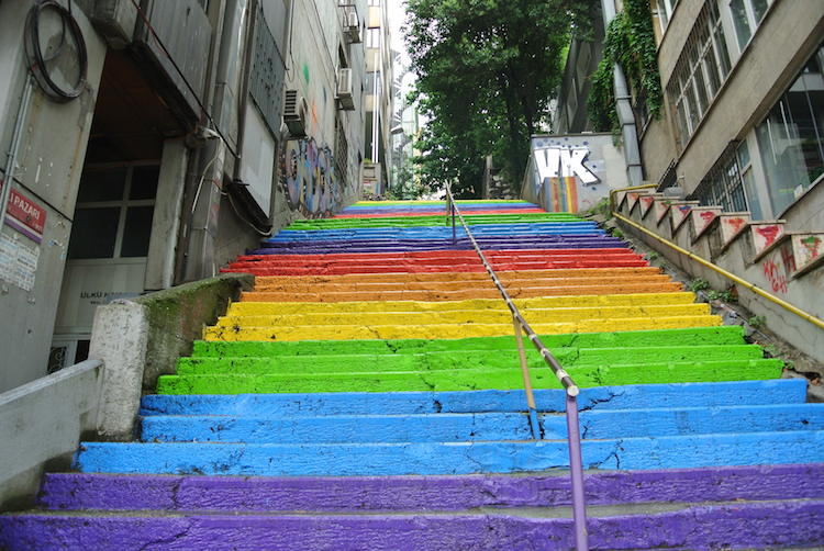Rainbow Stairs Istanbul