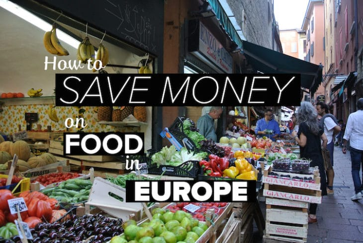 Save money on food in Europe