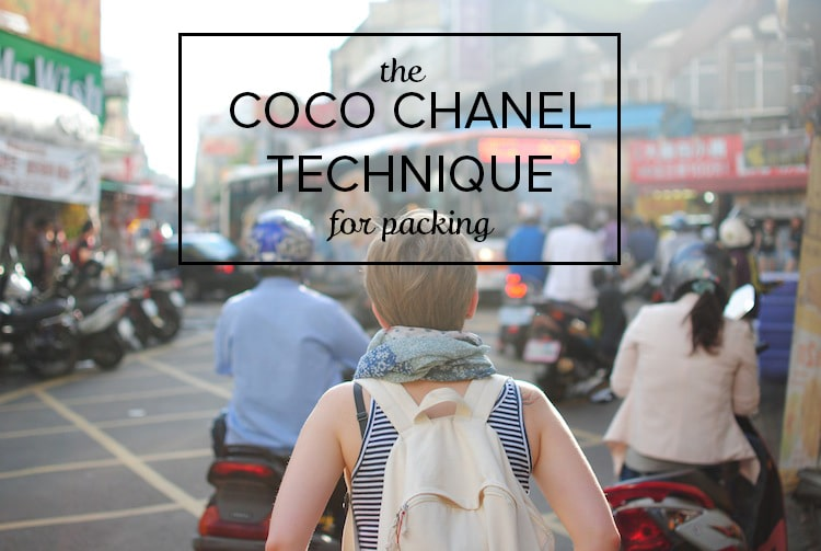 How Even Excessive Over-Packers Can Pack Lighter Using The Coco Chanel Technique For Packing