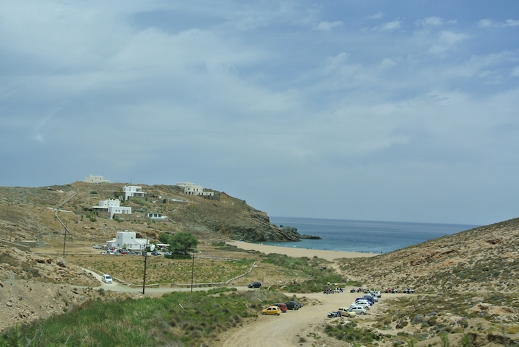 Driving To Mykonos Beaches