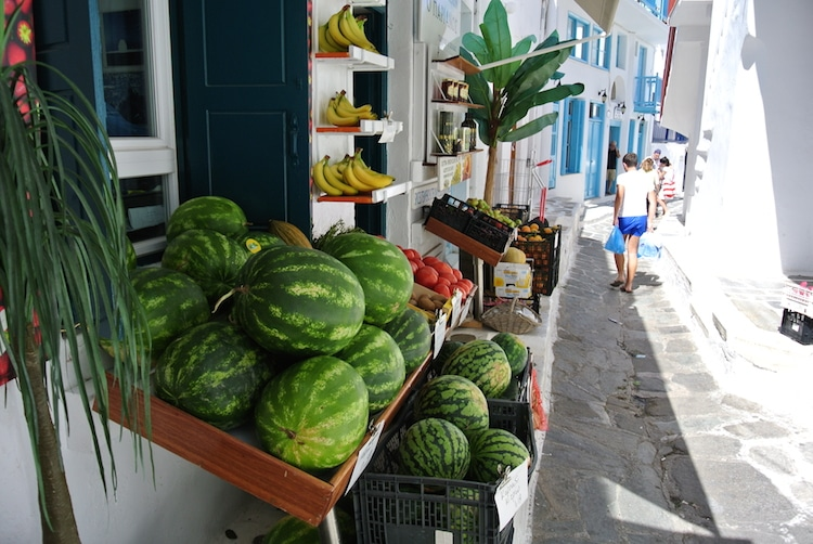 Fruit and Vegetable Store in Mykonos