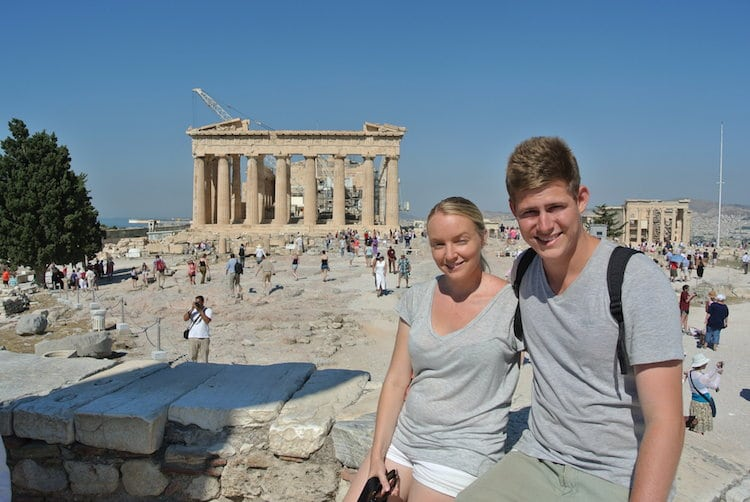 Mandy and Chris At The Acropolis