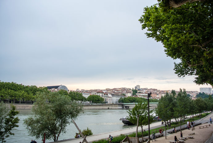 Walk along the river in Lyon