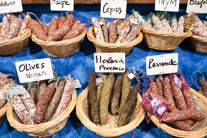 Salami at the markets