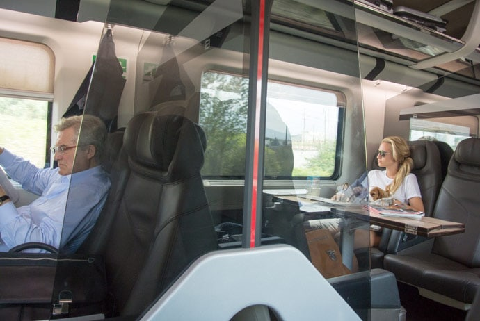 Business Class Train in Italy