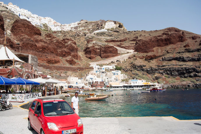 Driving Around Santorini Greece