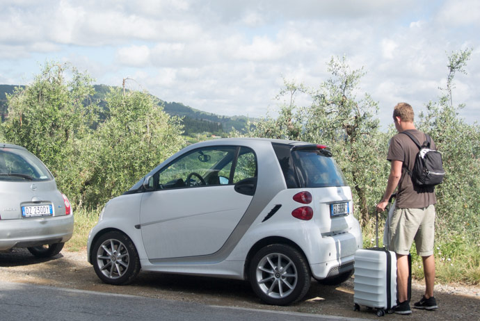 Smart Car Around Tuscany