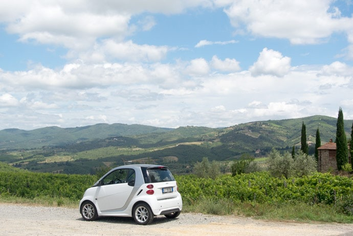 Smart Car In Tuscany