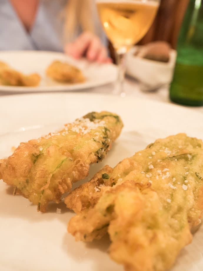 Fried Courgette Flowers