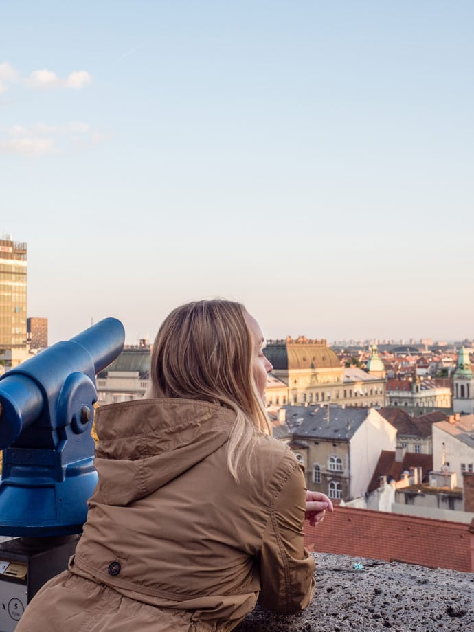 Looking over Zagreb