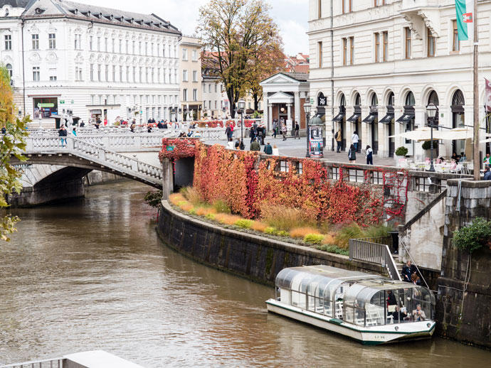 Ljubljana River and Triple Bridge