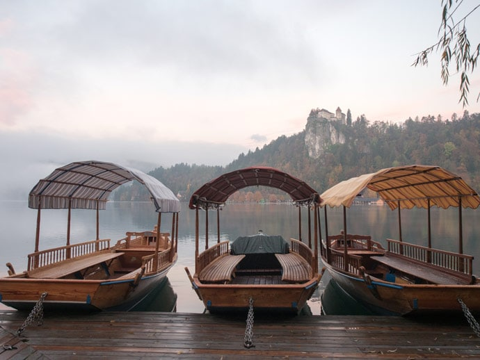 Row Boats at Lake Bled