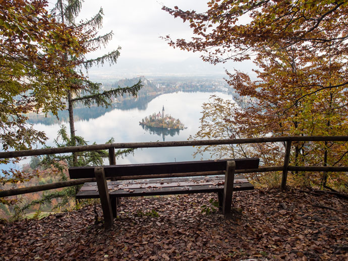 Seat with a view, Lake Bled