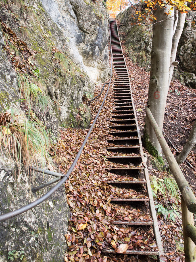 Stairs down from Mala Osojnica