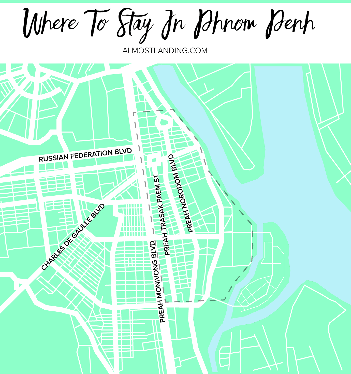 Where To Stay In Phnom Penh Map
