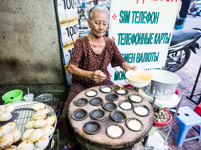 Cooking street food in Nha Trang