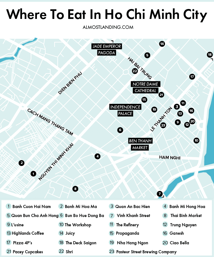 Where To Eat In Ho Chi Minh City Map