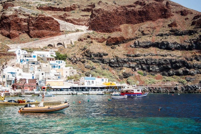 Amoudi Bay Santorini Greece