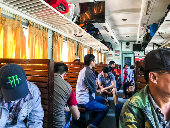 Hard Seats On Vietnamese Train
