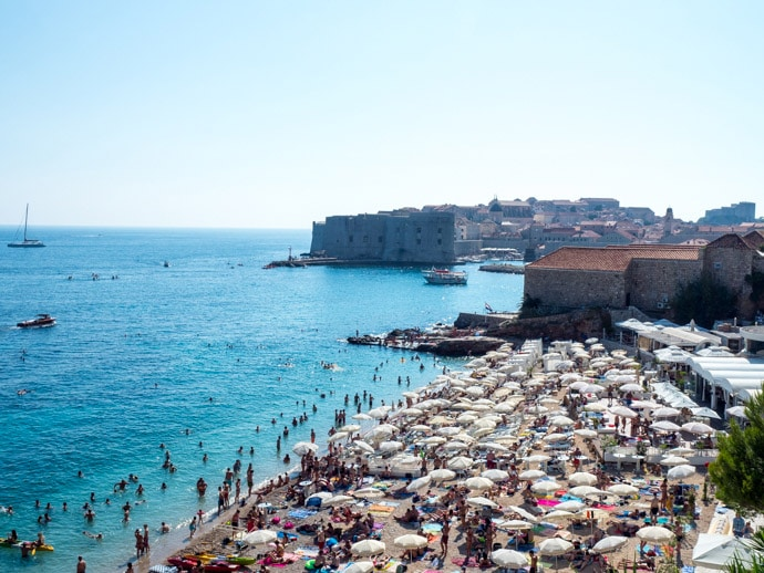 Beach In Dubrovnik