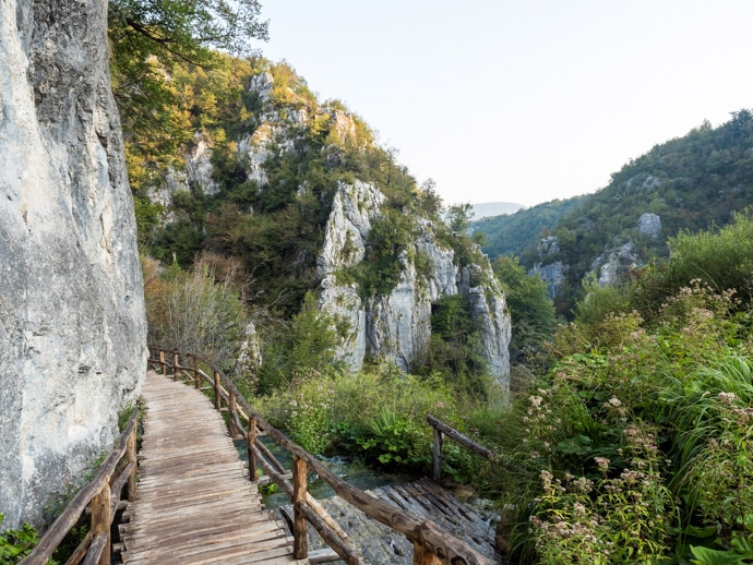 Path To Big Waterfall Plitvice Lakes