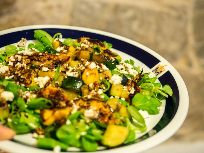 Home Made Peach And Zucchini Salad