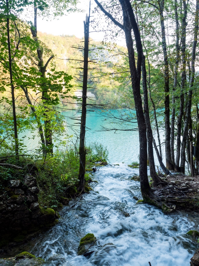 Plitvice Lakes Water Into Water