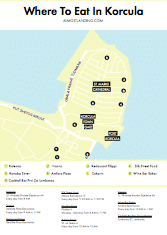 Where To Eat In Korcula Croatia Map Image