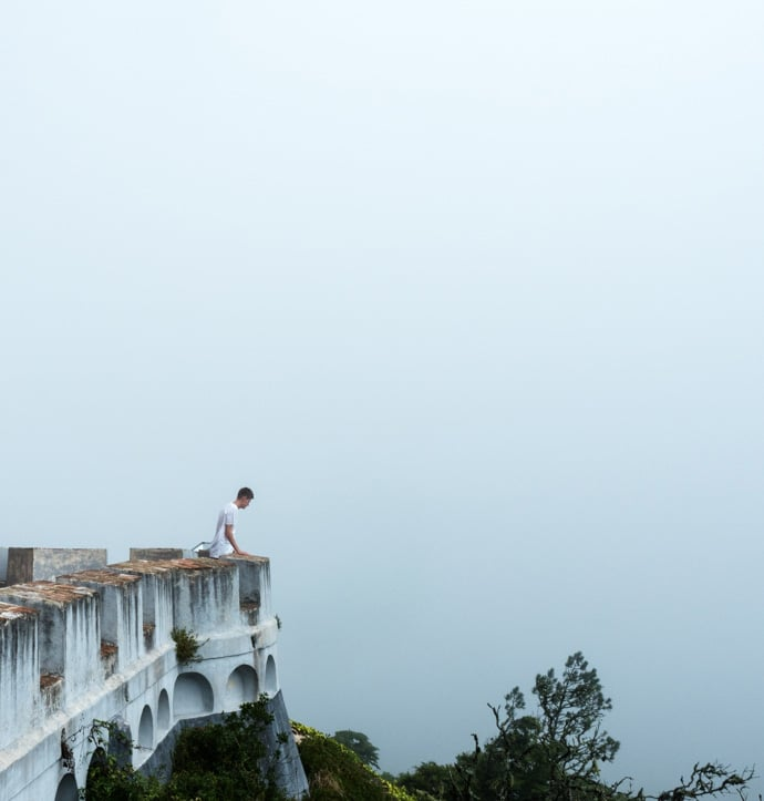 Pena Palace Chris In The Fog