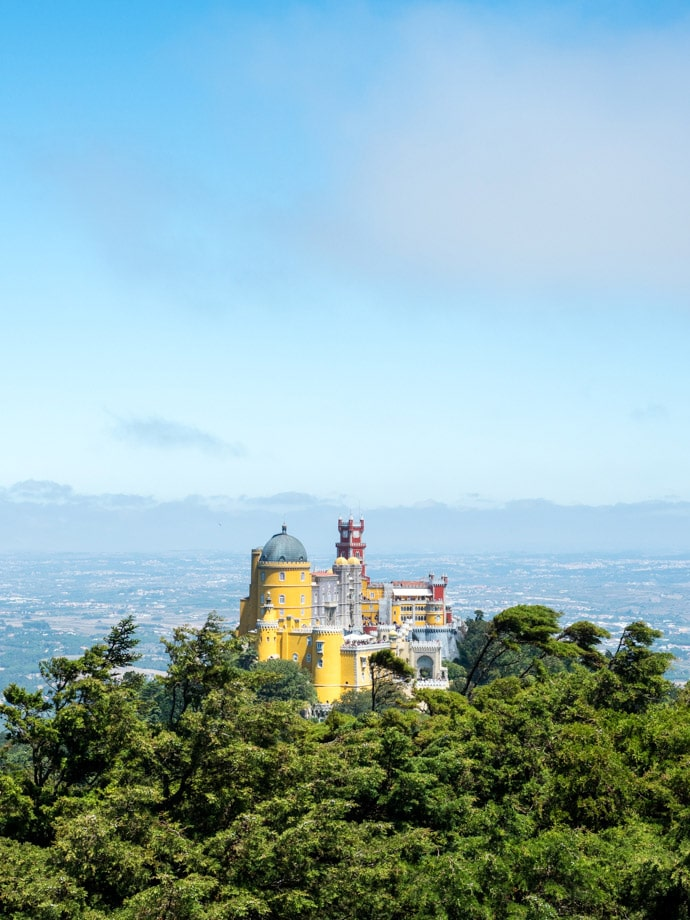 Pena Palace Sintra From The High Cross