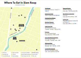 Where To Eat In Siem Reap Printable Image