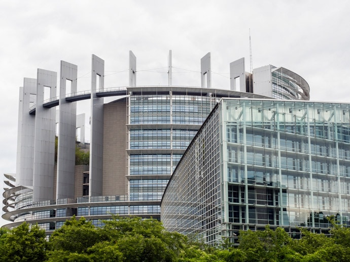 European Parliament Building Strasbourg France