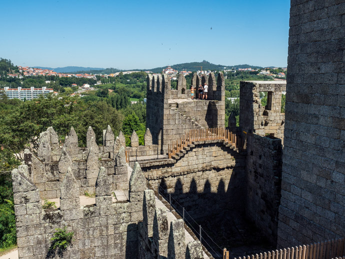 Guimaraes Castle View Portugal