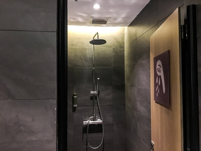 Shower In A Transit Hotel Singapore