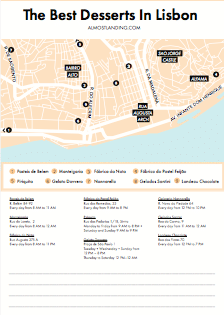 The Best Desserts In Lisbon Map Printable Image
