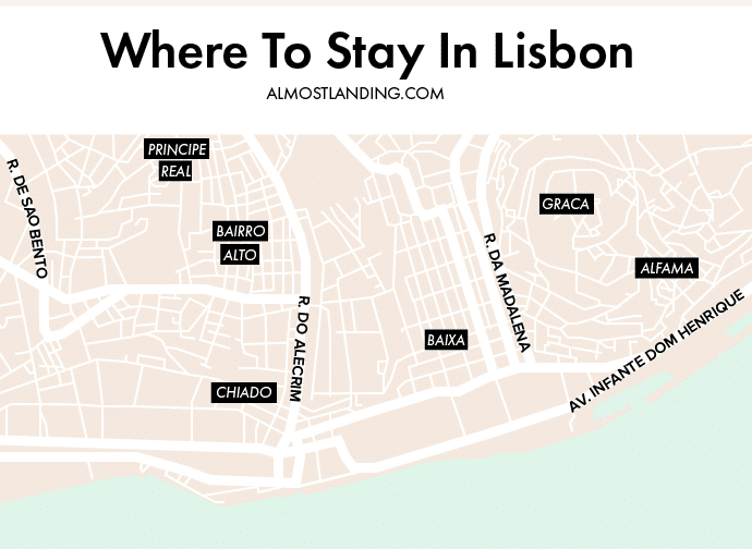 Lisbon Neighbourhood Map
