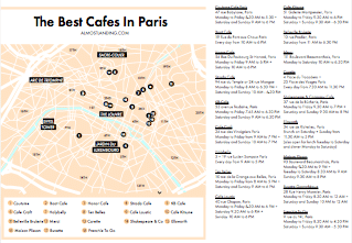 Best Cafes in Paris Map Printable