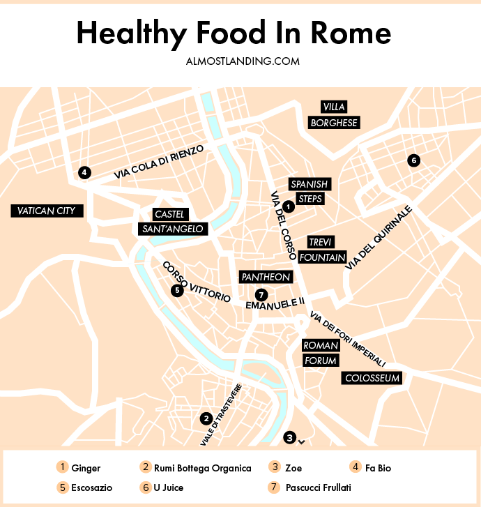 Healthy Food In Rome Map
