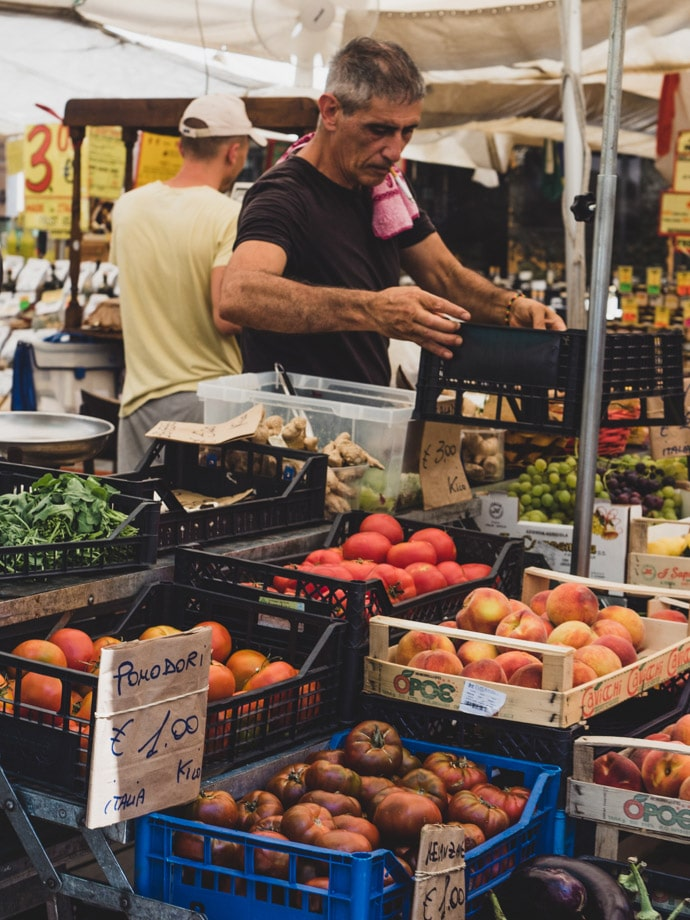 Healthy Food In Rome Markets