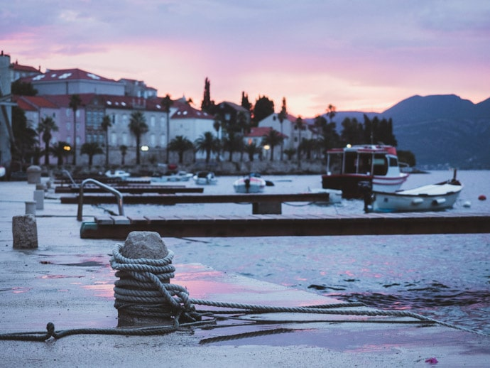 Korcula Jetty Sunset