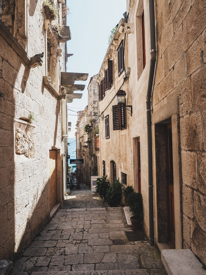 Korcula Old Town Streets