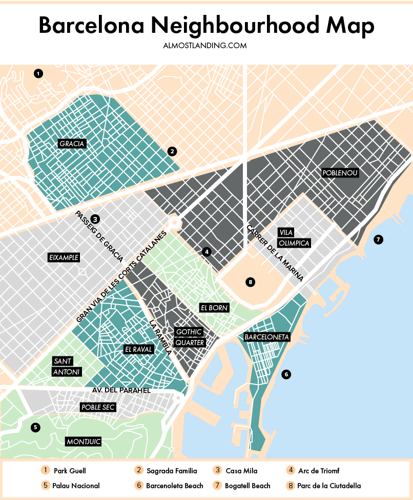 Barcelona Neighbourhood Map