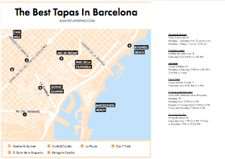 Best Tapas In Barcelona Map Image