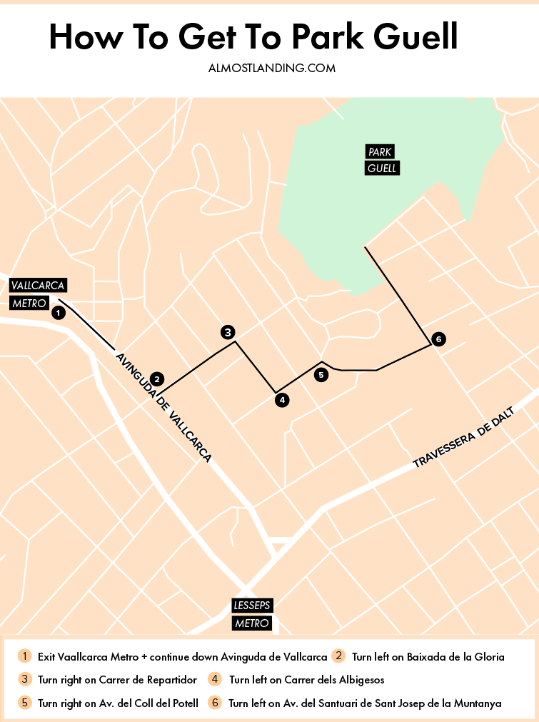 How To Get To Park Guell Map