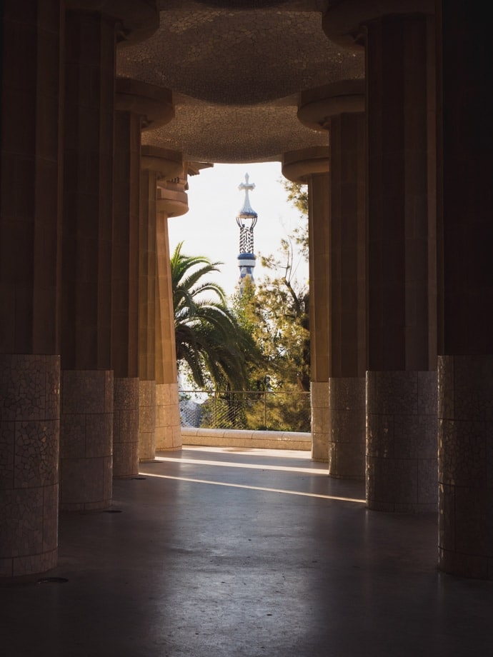 Hypostyle Room Park Guell Barcelona