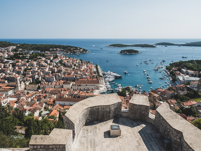 Hvar Fortress Lookout Croatia