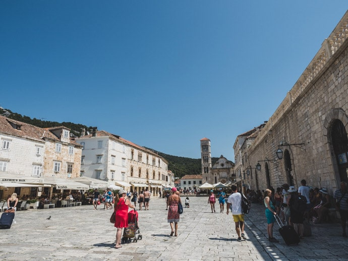 Saint Stephens Square Hvar Croatia