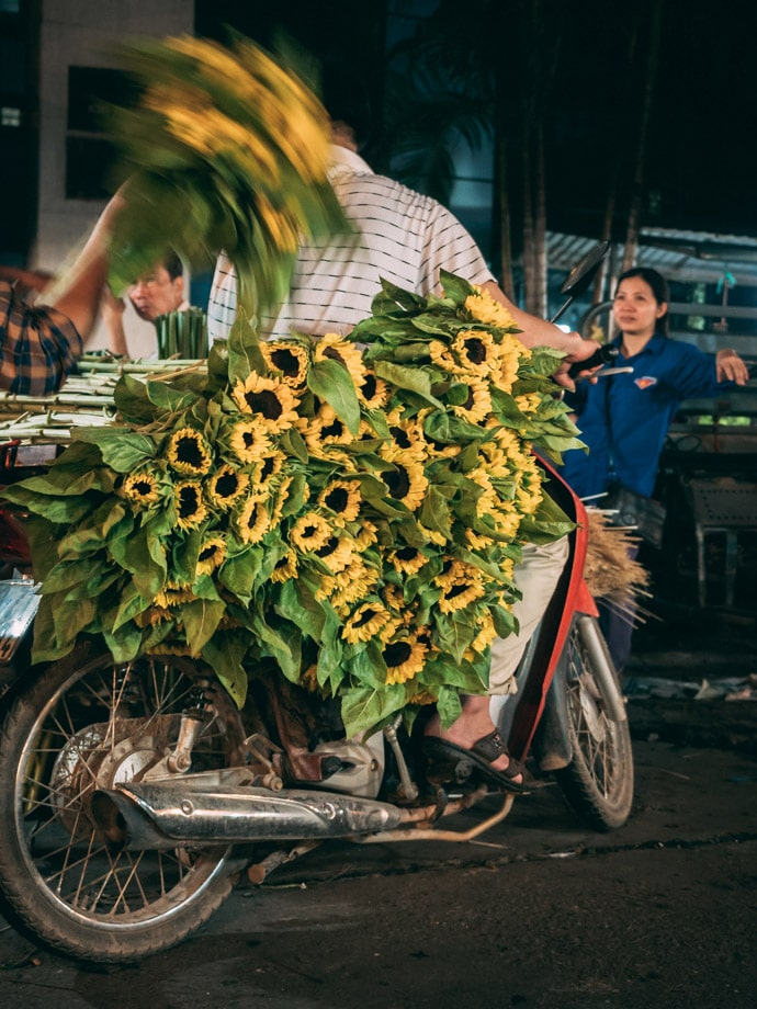 Throwing Flowers Quang An Hanoi