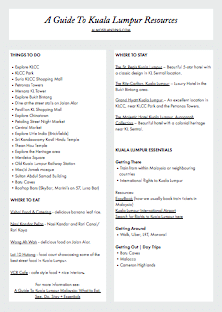 A Guide To Kuala Lumpur Resources Printable Image